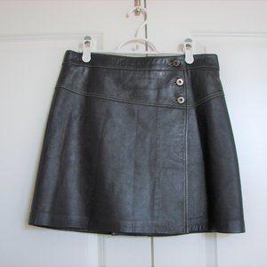 Danier Leather Buttery Soft Mini Skirt